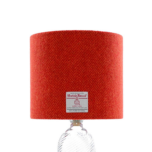 Strawberry Red & Orange Herringbone Harris Tweed Lampshade