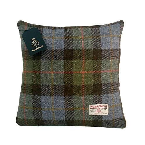 Hunting MacLeod Blue & Green Tartan Check Harris Tweed Cushion Cover