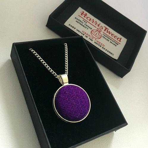 Purple Harris Tweed Necklace