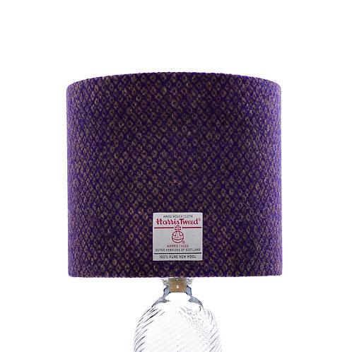 Purple & Bronze Diamond Weave Harris Tweed Lampshade