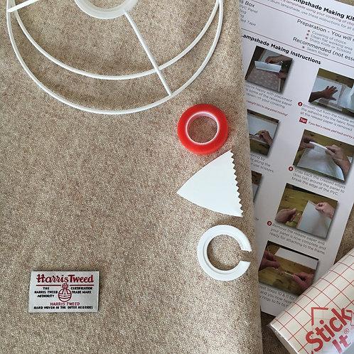 Oatmeal Harris Tweed - DIY Lampshade Kit