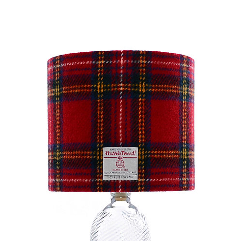 Red Tartan Harris Tweed Lampshade