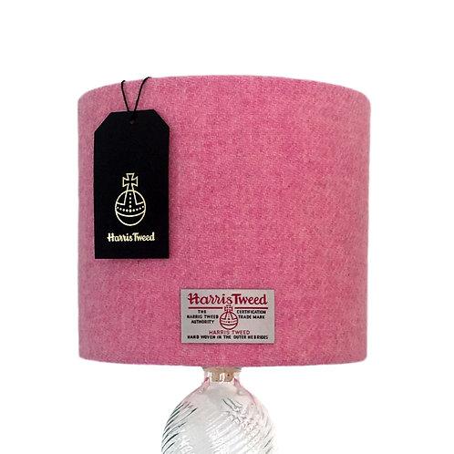 Pale Pink Harris Tweed Lampshade