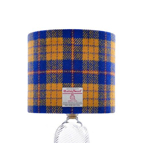 Royal Blue & Yellow Tartan Harris Tweed Lampshade