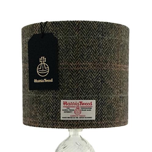 Brown Multi Herringbone Harris Tweed Lampshade