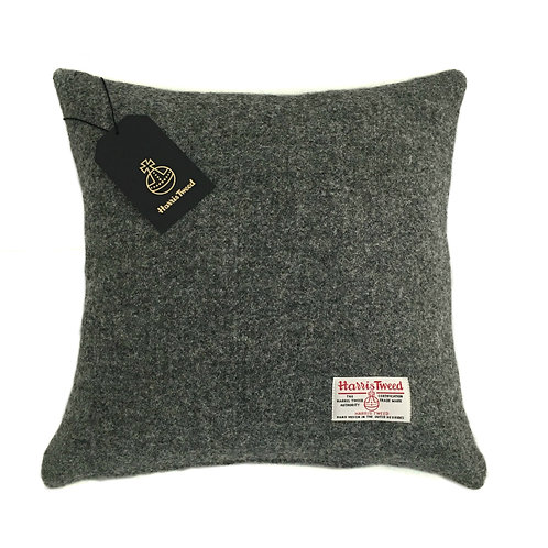 Charcoal Grey Harris Tweed Cushion Cover