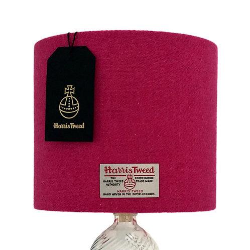 Bright Pink Harris Tweed Lampshade