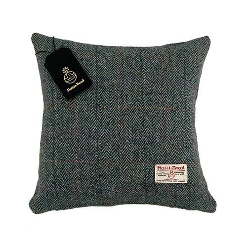 Rainbow Blue Herringbone Harris Tweed Cushion Cover