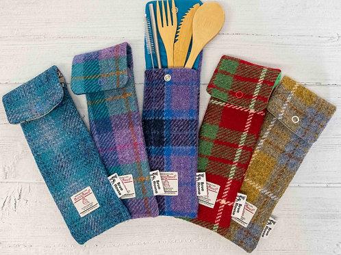 Harris Tweed Cutlery Pouches - Tartan & Checks