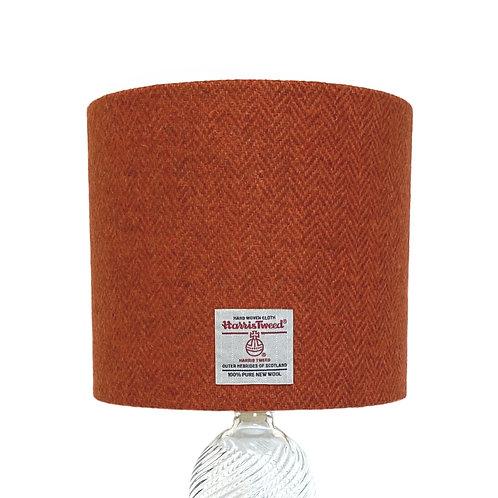 Burnt Orange & Brown Herringbone Harris Tweed Lampshade