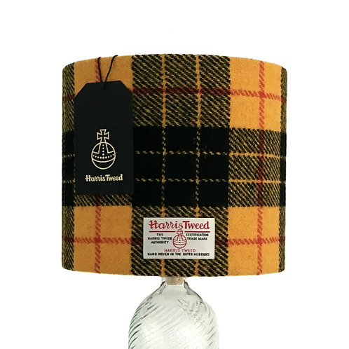 MacLeod Yellow & Black Tartan Harris Tweed Lampshade
