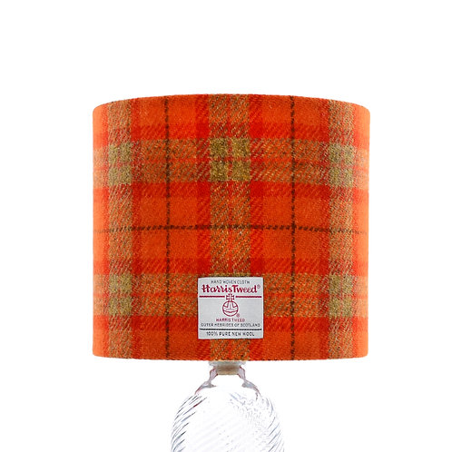 Orange & Mustard Yellow Tartan Harris Tweed Lampshade