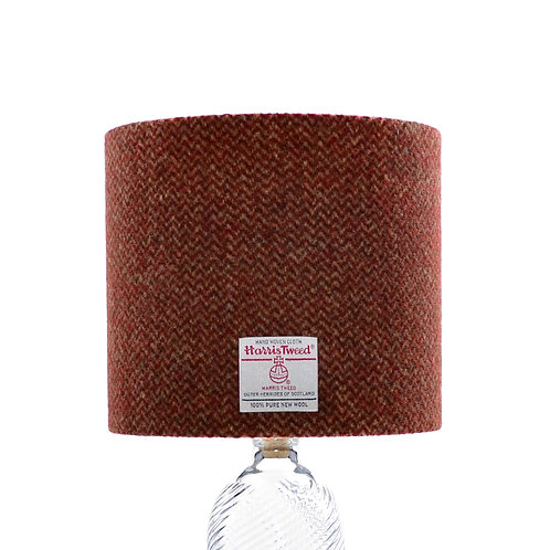 Copper Brown & Bronze Wave Weave Harris Tweed Lampshade
