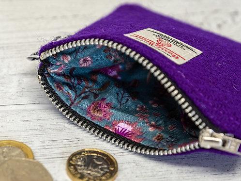 Purple Harris Tweed Coin Purse