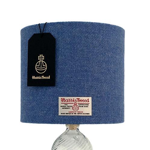 Cornflower Blue Harris Tweed Lampshade