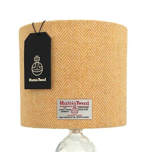 Yellow & White Herringbone Harris Tweed Lampshade