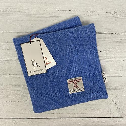Cornflower Blue Harris Tweed Cushion Cover
