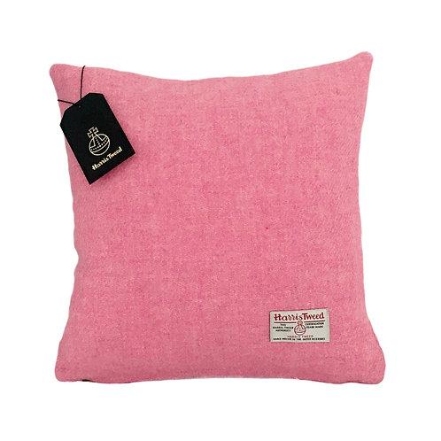 Baby Pink Harris Tweed Cushion Cover