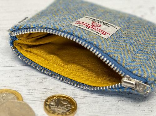 Blue & Green Herringbone Harris Tweed Coin Purse