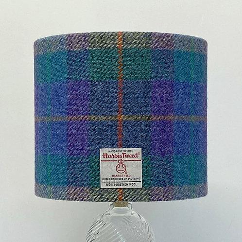 Purple & Blue Tartan Harris Tweed Lampshade