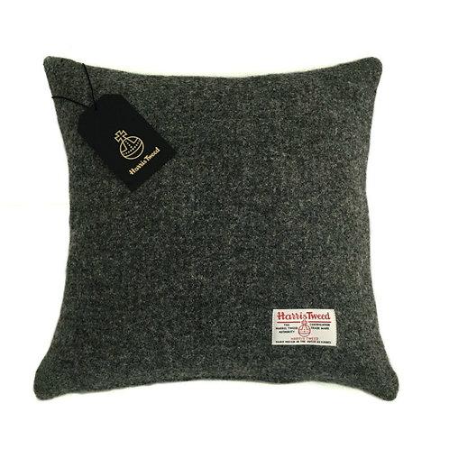 Charcoal Grey Harris Tweed Cushion Cover