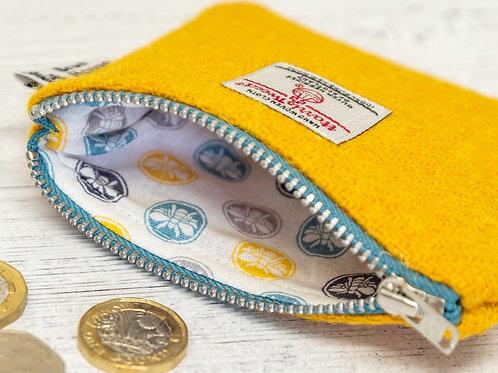 Yellow Harris Tweed Coin Purse