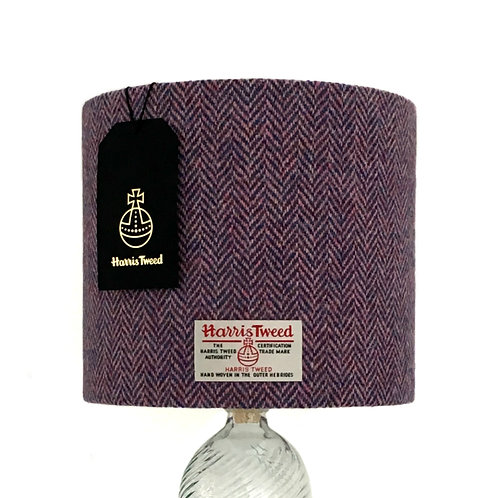 Lilac & Blue / Pink Herringbone Harris Tweed Lampshade