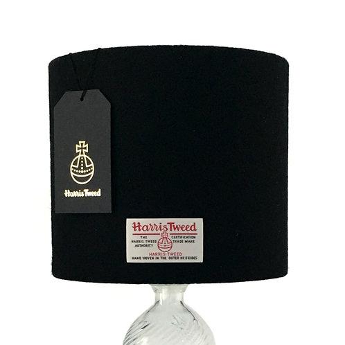 Black Harris Tweed Lampshade