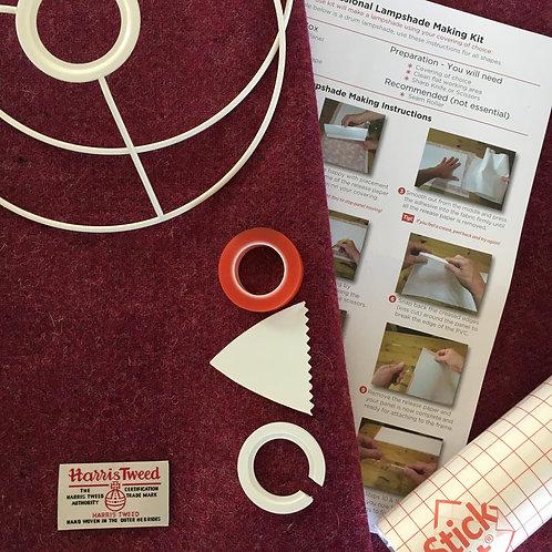Crimson / Raspberry Harris Tweed - DIY Lampshade Kit