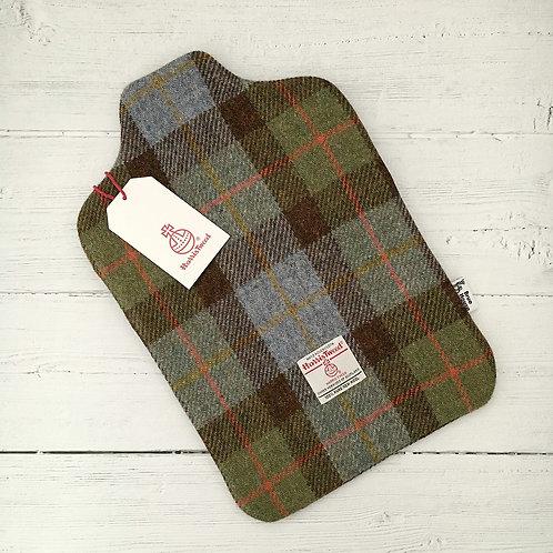 Hunting MacLeod Green & Blue Tartan Harris Tweed Hot Water Bottle Cover
