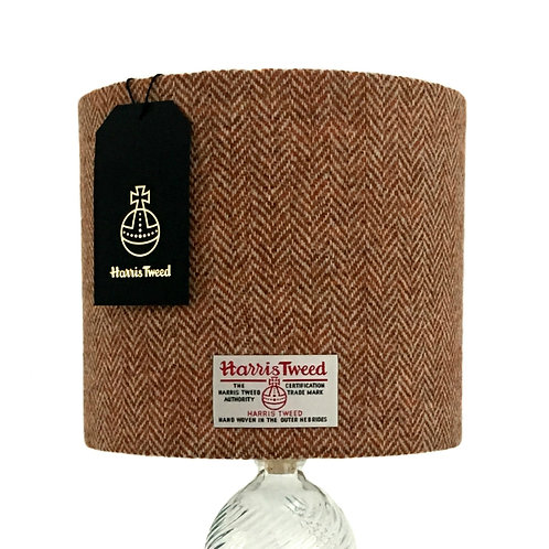 Tan Brown Herringbone Harris Tweed Lampshade