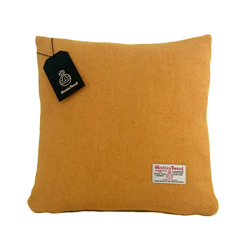 Yellow Harris Tweed Cushion Cover