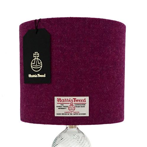 Cerise Pink & Purple Herringbone Harris Tweed Lampshade