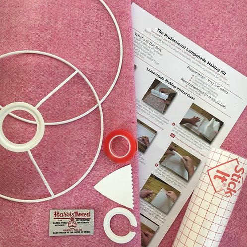 Pale Pink Harris Tweed - DIY Lampshade Kit