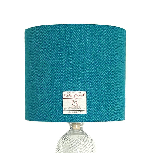Teal & Turquoise Herringbone Harris Tweed Lampshade