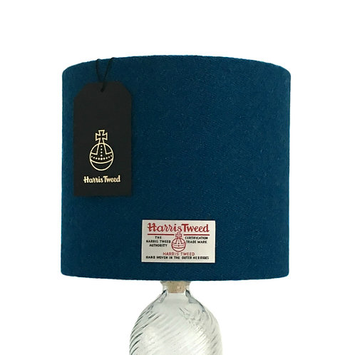 Kingfisher Blue Harris Tweed Lampshade