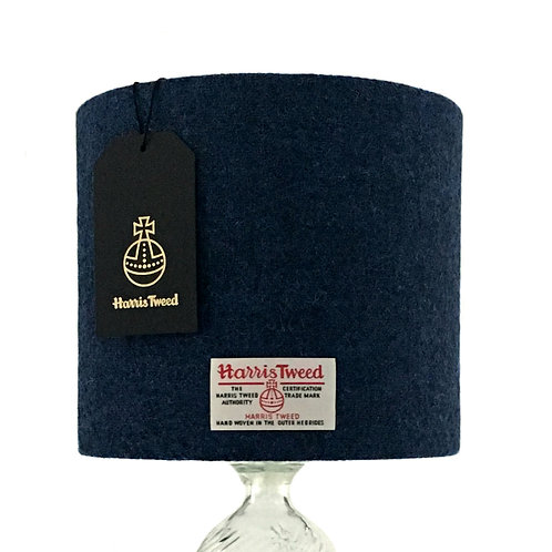 Persian Blue Harris Tweed Lampshade