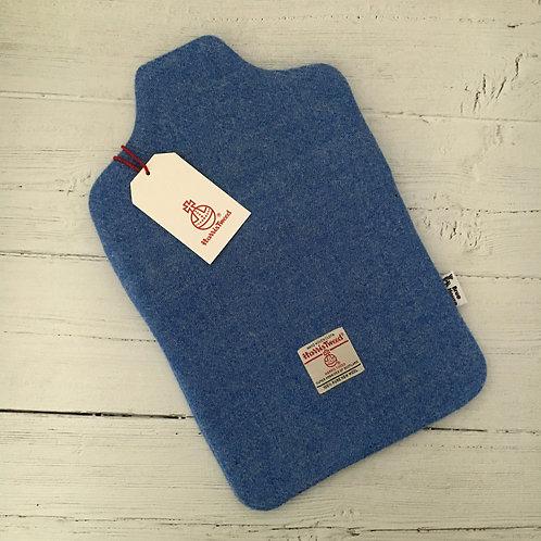 Cornflower Blue Harris Tweed Hot Water Bottle Cover