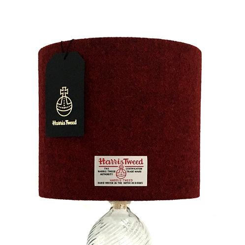Deep Red Harris Tweed Lampshade