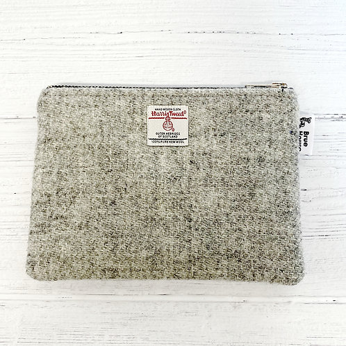 Harbour Grey Harris Tweed Large Pouch Purse