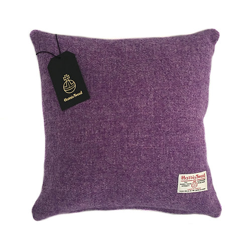 Violet / Lilac Harris Tweed Cushion Cover