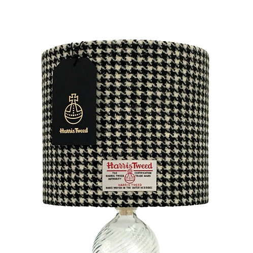 Black & White Houndstooth Harris Tweed Lampshade