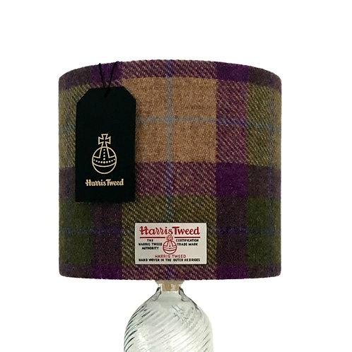 Purple, Green and Beige Tartan Harris Tweed Lampshade