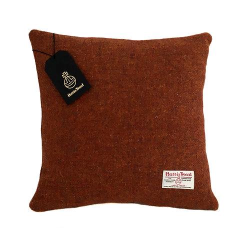 Copper Brown Harris Tweed Cushion Cover