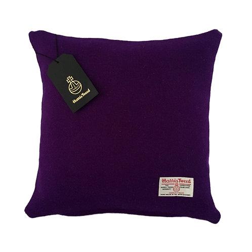 Purple Harris Tweed Cushion Cover