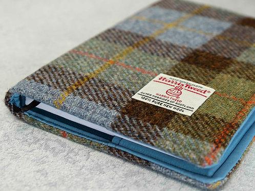 Hunting MacLeod Tartan Harris Tweed Padded A5 Notebook Cover