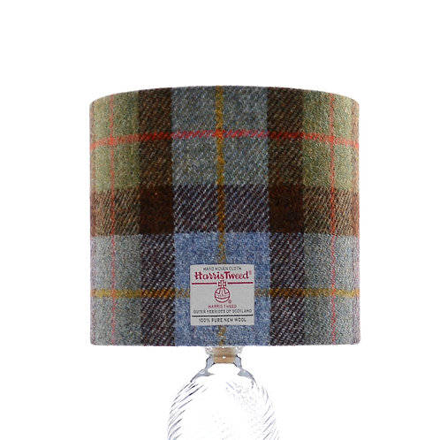 Hunting MacLeod Blue & Green Tartan Harris Tweed Lampshade