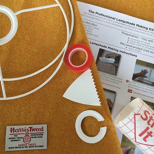 Yellow Harris Tweed - DIY Lampshade Kit