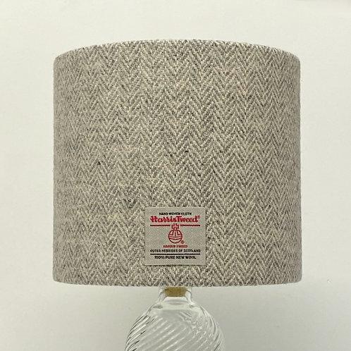 Grey Herringbone Harris Tweed Lampshade
