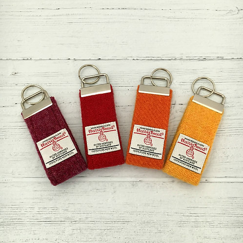 Red, Orange & Yellow Plain Selection - Harris Tweed Keyrings